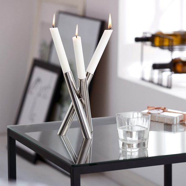 Philippi Perplex Candle Holder displayed on a side table