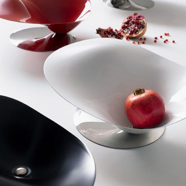 Bugatti Petalo Bowl White - surrounded by other bowls