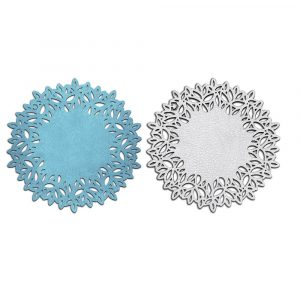 Turquoise and Silver Circular Trivet