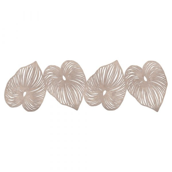 Table Runner consisting of 4 rose gold leaves