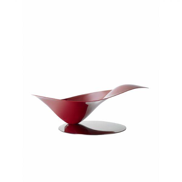 Bugatti Petalo Bowl Red with silver base